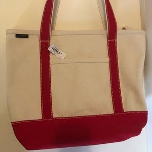 New Land's End Canvas Tote - Red